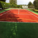 MUGA Court Painting in Abercych 5