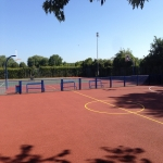 Respraying MUGA Surfaces in Abridge 6