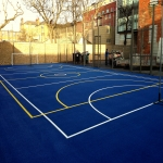 Repainting MUGA Courts in Withymoor Village 6