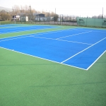 MUGA Court Painting in Abcott 9