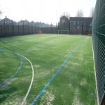 MUGA Court Painting in Abercych 2
