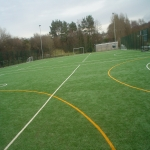 MUGA Court Painting in Abercych 1