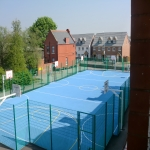 MUGA Court Painting in Abcott 2