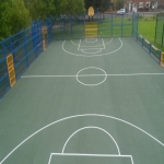MUGA Court Painting in Abcott 6