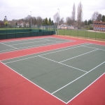 Respraying MUGA Surfaces in Abridge 11