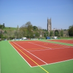 MUGA Court Painting in Abcott 8