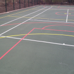 MUGA Court Painting in Abercych 9