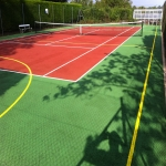 Repainting MUGA Courts in Dyffryn Cellwen 8