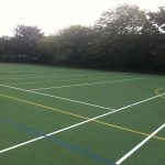 MUGA Court Painting in Abercych 3
