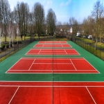 MUGA Court Painting in Abercych 10