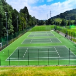 MUGA Court Painting in Abercych 4