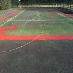 MUGA Court Painting in Aby 10