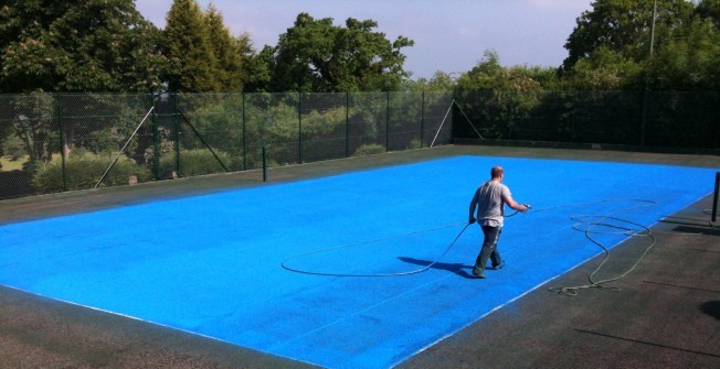 Respraying MUGA Surfaces in Alvingham
