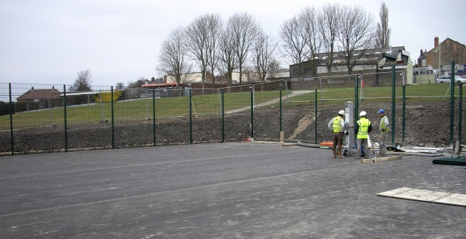 MUGA Court Construction in Amitabha Buddhist Centre