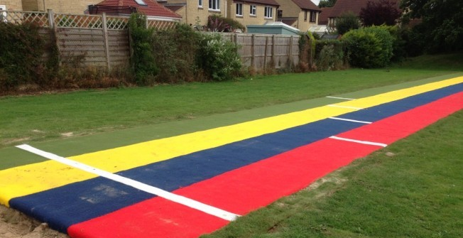Synthetic Athletics Flooring in Ampney St Mary