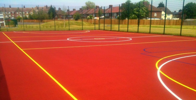 Polymeric MUGA Flooring in Newchurch