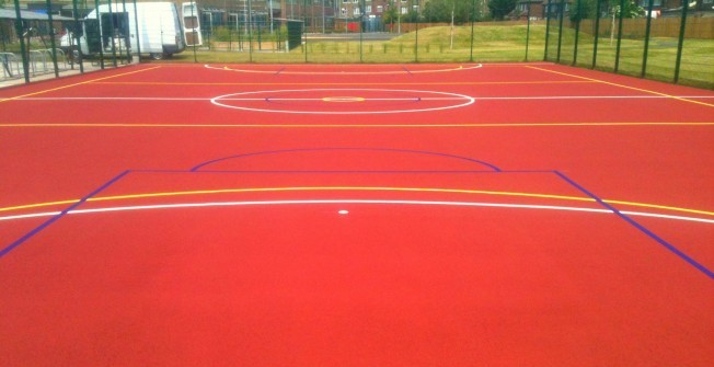 MUGA Court Painting in Abercych