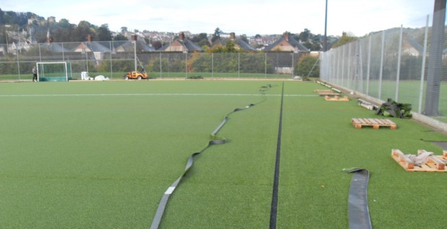 Sports Surface Upgrade in Amberley