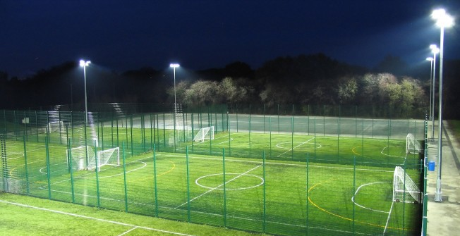 Sports Court Floodlighting in Rhondda Cynon Taf