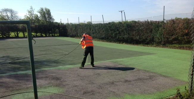 Sports Surface Painting Specialists in Dyffryn Cellwen